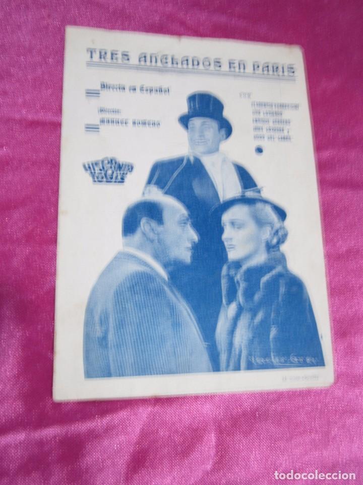 Cine: TRES ANCLADOS EN PARIS PROGRAMA DE CINE DOBLE. HISPANIA TOBIS C2 - Foto 7 - 105385715