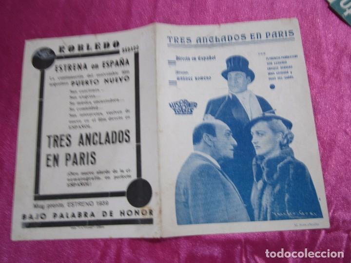 Cine: TRES ANCLADOS EN PARIS PROGRAMA DE CINE DOBLE. HISPANIA TOBIS C2 - Foto 4 - 105385715