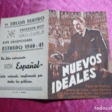 Cine: NUEVOS IDEALES FELIX DE POMES ROSITA DE CABO PROGRAMA DE CINE DOBLE AÑOS 30 . Lote 105534171