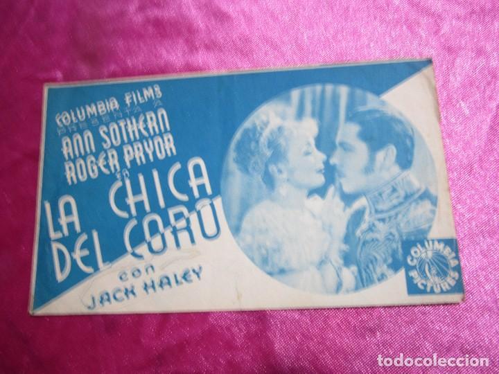 LA CHICA DEL CORO ROGER PRYOR PROGRAMA DE CINE DOBLE C2 (Cine - Folletos de Mano - Aventura)