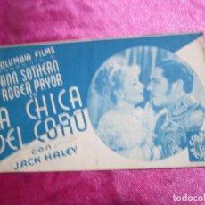 Cine: LA CHICA DEL CORO ROGER PRYOR PROGRAMA DE CINE DOBLE C2. Lote 105536227