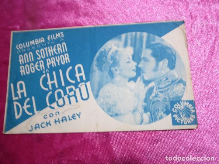 Cine: LA CHICA DEL CORO ROGER PRYOR PROGRAMA DE CINE DOBLE C2 - Foto 2 - 105536227