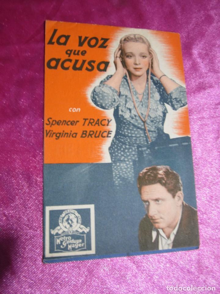 Cine: LA VOZ QUE ACUSA SPENCER TRACY CURIOSA FALTA DE IMPRENTA PROGRAMA DE CINE DOBLE C2 - Foto 4 - 105540911