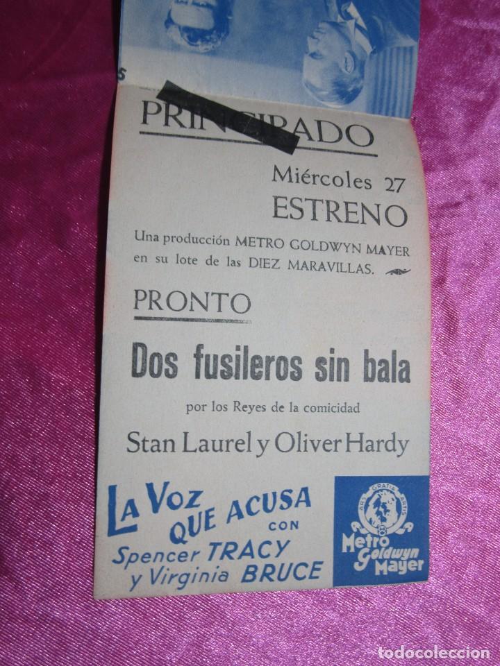 Cine: LA VOZ QUE ACUSA SPENCER TRACY CURIOSA FALTA DE IMPRENTA PROGRAMA DE CINE DOBLE C2 - Foto 6 - 105540911