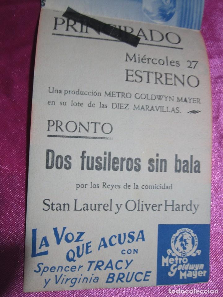 Cine: LA VOZ QUE ACUSA SPENCER TRACY CURIOSA FALTA DE IMPRENTA PROGRAMA DE CINE DOBLE C2 - Foto 8 - 105540911