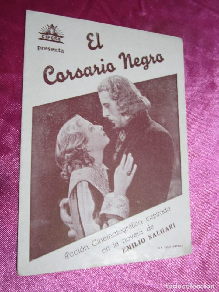 Cine: EL CORSARIO NEGRO CIRO VERRATTI PROGRAMA DE CINE DOBLE C2 - Foto 2 - 105542423