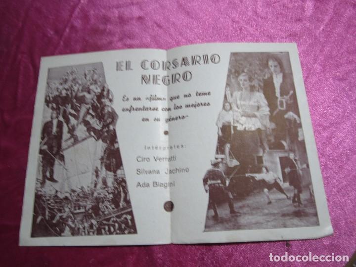 Cine: EL CORSARIO NEGRO CIRO VERRATTI PROGRAMA DE CINE DOBLE C2 - Foto 3 - 105542423