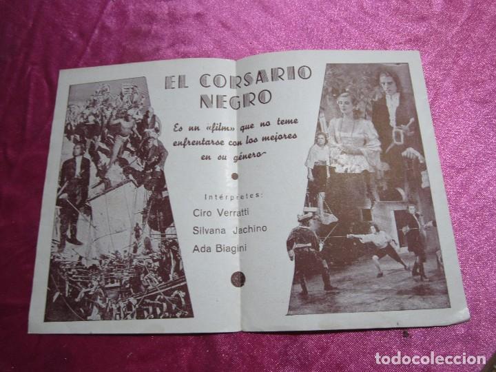 Cine: EL CORSARIO NEGRO CIRO VERRATTI PROGRAMA DE CINE DOBLE C2 - Foto 5 - 105542423