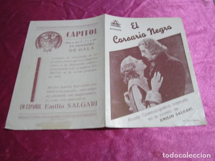Cine: EL CORSARIO NEGRO CIRO VERRATTI PROGRAMA DE CINE DOBLE C2 - Foto 4 - 105542423