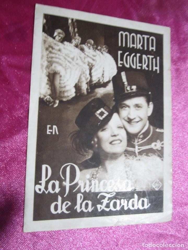 Cine: LA PRINCESA DE LA ZARDA MARTA EGGERTH PROGRAMA DE CINE DOBLE C2 - Foto 2 - 105543963