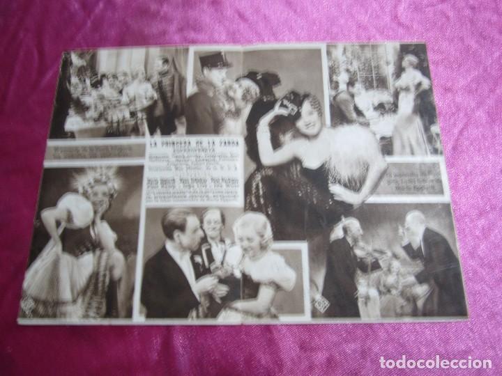 Cine: LA PRINCESA DE LA ZARDA MARTA EGGERTH PROGRAMA DE CINE DOBLE C2 - Foto 3 - 105543963