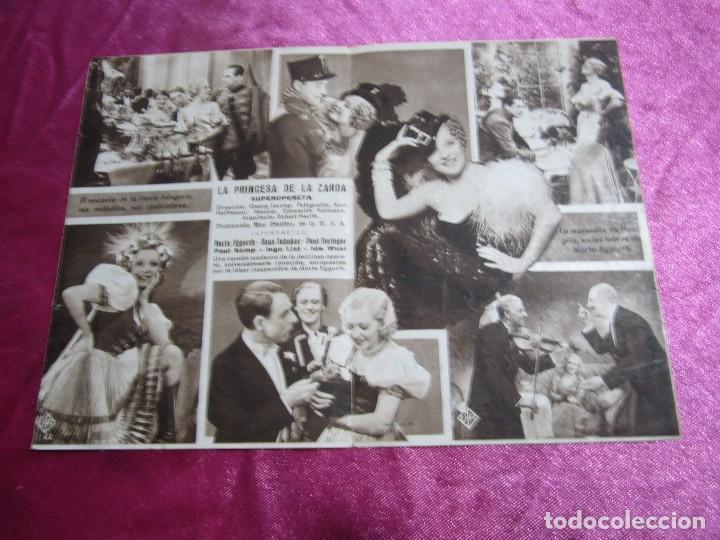 Cine: LA PRINCESA DE LA ZARDA MARTA EGGERTH PROGRAMA DE CINE DOBLE C2 - Foto 4 - 105543963