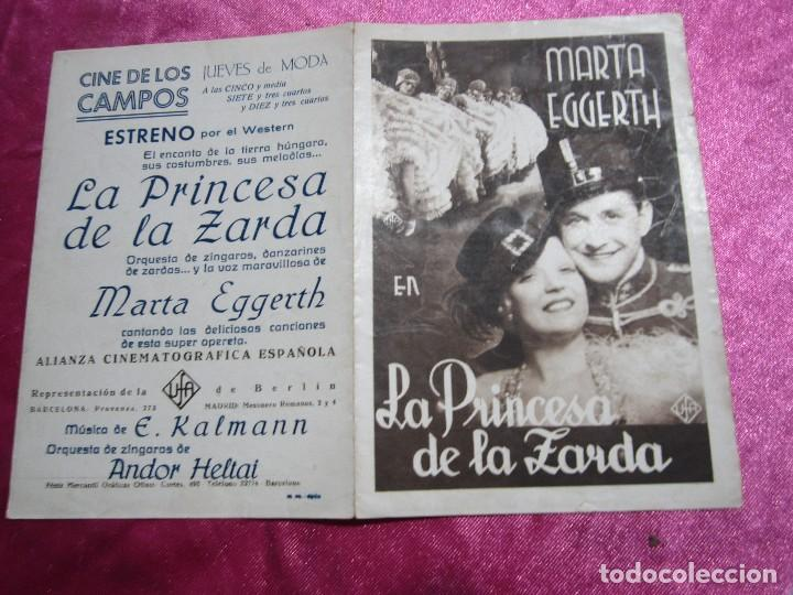 Cine: LA PRINCESA DE LA ZARDA MARTA EGGERTH PROGRAMA DE CINE DOBLE C2 - Foto 5 - 105543963