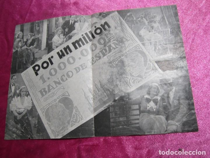 Cine: POR UN MILLON GUSTAV FROELICH CAMILA PROGRAMA DE CINE DOBLE C2 - Foto 3 - 105545935