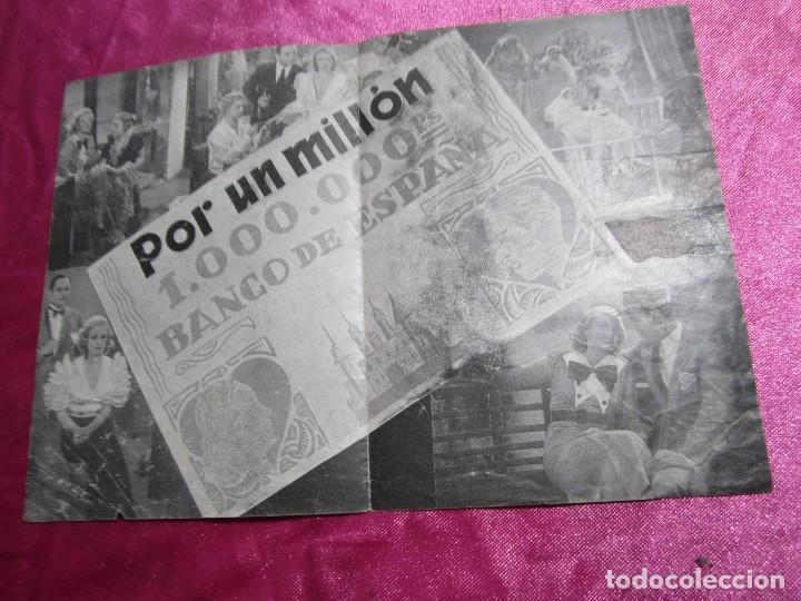 Cine: POR UN MILLON GUSTAV FROELICH CAMILA PROGRAMA DE CINE DOBLE C2 - Foto 4 - 105545935