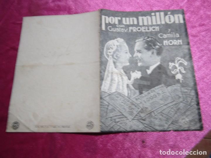 Cine: POR UN MILLON GUSTAV FROELICH CAMILA PROGRAMA DE CINE DOBLE C2 - Foto 2 - 105545935