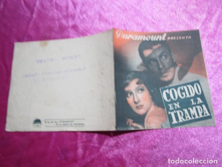 Cine: COGIDO EN LA TRAMPA PROGRAMA DE CINE DOBLE CINE POMBO MIERES C2 - Foto 4 - 105547371