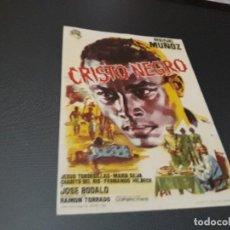 Cine: PROGRAMA DE MANO ORIGINAL - CRISTO NEGRO - ( CON PUBLICIDAD CINE DE TORRELAVEGA 1964 ). Lote 105596507