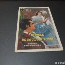 Cine: PROGRAMA DE MANO ORIGINAL - LA NOVELA DE UN JOVEN POBRE - ( CON PUBLICIDAD CINE DE VITORIA 1947 ). Lote 105601579