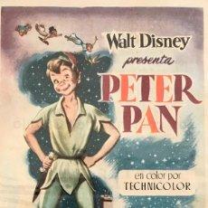 Cine: PETER PAN- WALT DISNEY- SOCIEDAD LA PRINCIPAL- VILAFRANCA DEL PENEDÉS- 25 JULIO 1957. Lote 105616779