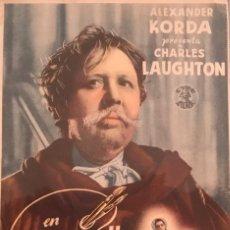 Cine: REMBRANDT. CHARLES LAUGHTON- CINE COLISEUM (RUBÍ, BARCELONA) 7 DE ENERO DE 1945. Lote 105619287