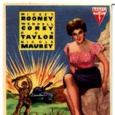 Cine: AMANECER SANGRIENTO 1956 (FOLLETO DE MANO ORIGINAL CON PUBLICIDAD CINE SAN ROQUE LAS PALMAS DE G.C.. Lote 105640303