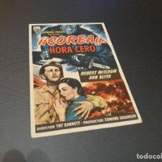 Cine: PROGRAMA DE MANO ORIGINAL - COREA ... HORA CERO - ( CON PUBLICIDAD CINE DE VITORIA ). Lote 105643063