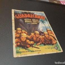 Cine: PROGRAMA DE MANO ORIGINAL - GUADALCANAL - ( CON PUBLICIDAD CINE DE VITORIA 1945 ). Lote 105643123