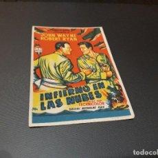 Cine: PROGRAMA DE MANO ORIGINAL - INFIERNO EN LAS NUBES - ( CON PUBLICIDAD CINE DE VITORIA 1952 ). Lote 105643187