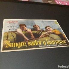 Cine: PROGRAMA DE MANO ORIGINAL - SANGRE, SUDOR Y LAGRIMAS - ( CON PUBLICIDAD CINE DE LOGROÑO 1944 ). Lote 105643231