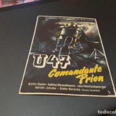 Cine: PROGRAMA DE MANO ORIGINAL - U47 - ( CON PUBLICIDAD CINE CHILE ). Lote 105643303