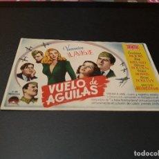 Cine: PROGRAMA DE MANO ORIGINAL - VUELO DE AGUILAS- ( CON PUBLICIDAD CINE DE VITORIA 1945 ). Lote 105643355