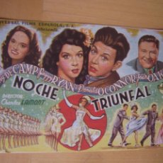 Cine: NOCHE TRIUNFAL FOLLETO DE MANO ORIGINAL ESTRENO CON CINE IMPRESO . Lote 105657859