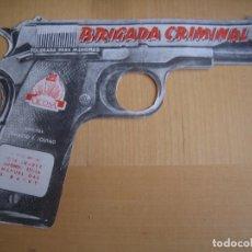 Cine: BRIGADA CRIMINAL IQUINO FOLLETO DE MANO ORIGINAL ESTRENO TROQUELADO PISTOLA . Lote 105663611