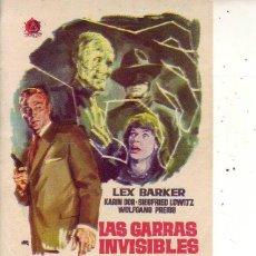 Cine: LAS GARRAS INVISIBLES DEL DOCTOR MABUSE. Lote 105775535