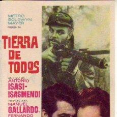 Cine: TIERRA DE TODOS. Lote 105775891