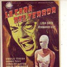 Cine: LA CARA DEL TERROR. Lote 105776079