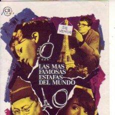 Cine: LAS MAS FAMOSAS ESTAFAS DEL MUNDO. Lote 105776243