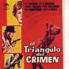 Cine: EL TRIANGULO DEL CRIMEN. Lote 105776435