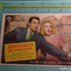 Cine: CARTEL DE MANO DE CINE AÑOS 30 40. ARSÉNICO POR COMPASIÓN. PUBLICIDAD TEATRO CERVANTES, MÁLAGA. 1629. Lote 105856967