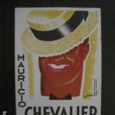 Cine: MAURICIO CHEVALIER - TARJETA DIBUJO -VER FOTOS-(C-4093). Lote 105997755