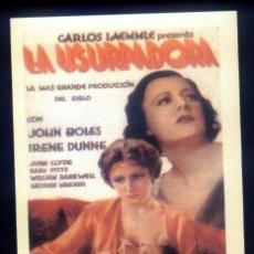 Cine: LOS USURPADORES, PROSPECTO CON FICHA TÉCNICA. Lote 106003963
