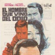 Cine: EL HOMBRE QUE VINO DEL ODIO (CON PUBLICIDAD DEL CINE). Lote 106019607