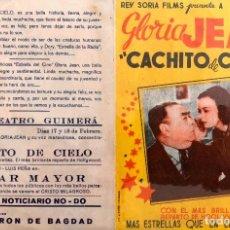 Cine: CACHITO DE CIELO- DOBLE- CINE TEATRO GUIMERÁ (BADALONA). Lote 106043727