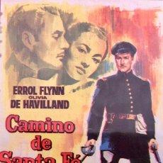Cine: CAMINO DE SANTA FE-ERROL FLYNN-- REPOSICIÓN DE 1965- CINE CATEQUISTICA TIANA (TIANA), ENERO 1968. Lote 106044047