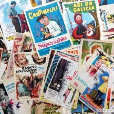 Cine: LOTE DE 81 FOLLETOS DE CINE SIN PUBLICIDAD,ORIGINALES.. Lote 106044271