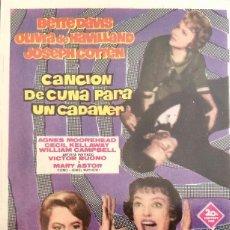 Cine: CANCION DE CUNA PARA UN CADAVER.- BETTE DAVIS- OLIVIA DE HAVILLAND. Lote 106044403
