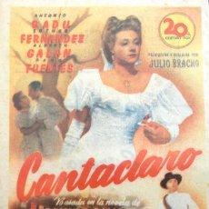 Cine: CANTACLARO- CINE MUNICIPAL (CADIZ) 26 DE OCTUBRE DE 1948. Lote 106044655
