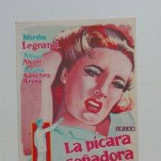 Cine: LA PÍCARA SOÑADORA DIRECTOR ERNESTO ARANCIBIA SIN PUBLICIDAD. Lote 214434830