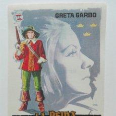 Cine: LA REINA CRISTINA DE SUECIA CON GRETA GARBO. Lote 106190984